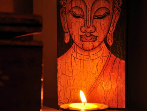 candela, buddha